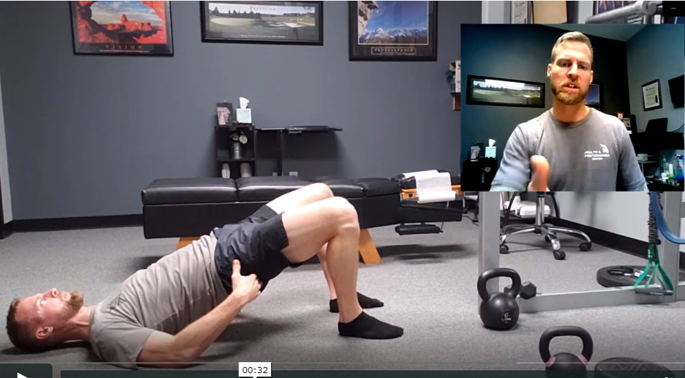The glute bridge ensures hip range of motion and low back protection